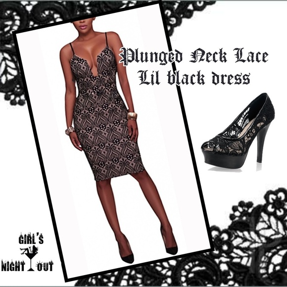 🔥 🔥SALE🛍 LACE Lil Black Dress